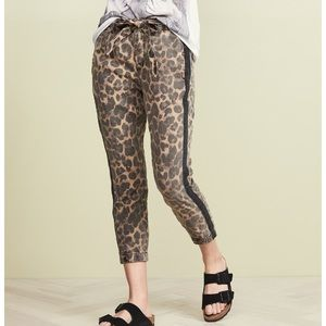NWT Pam & Gela Leopard Pants with Sash L